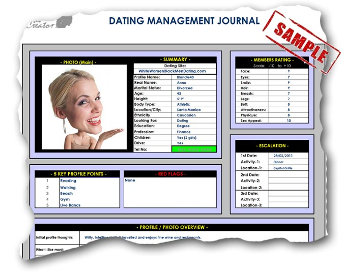 Online dating journal